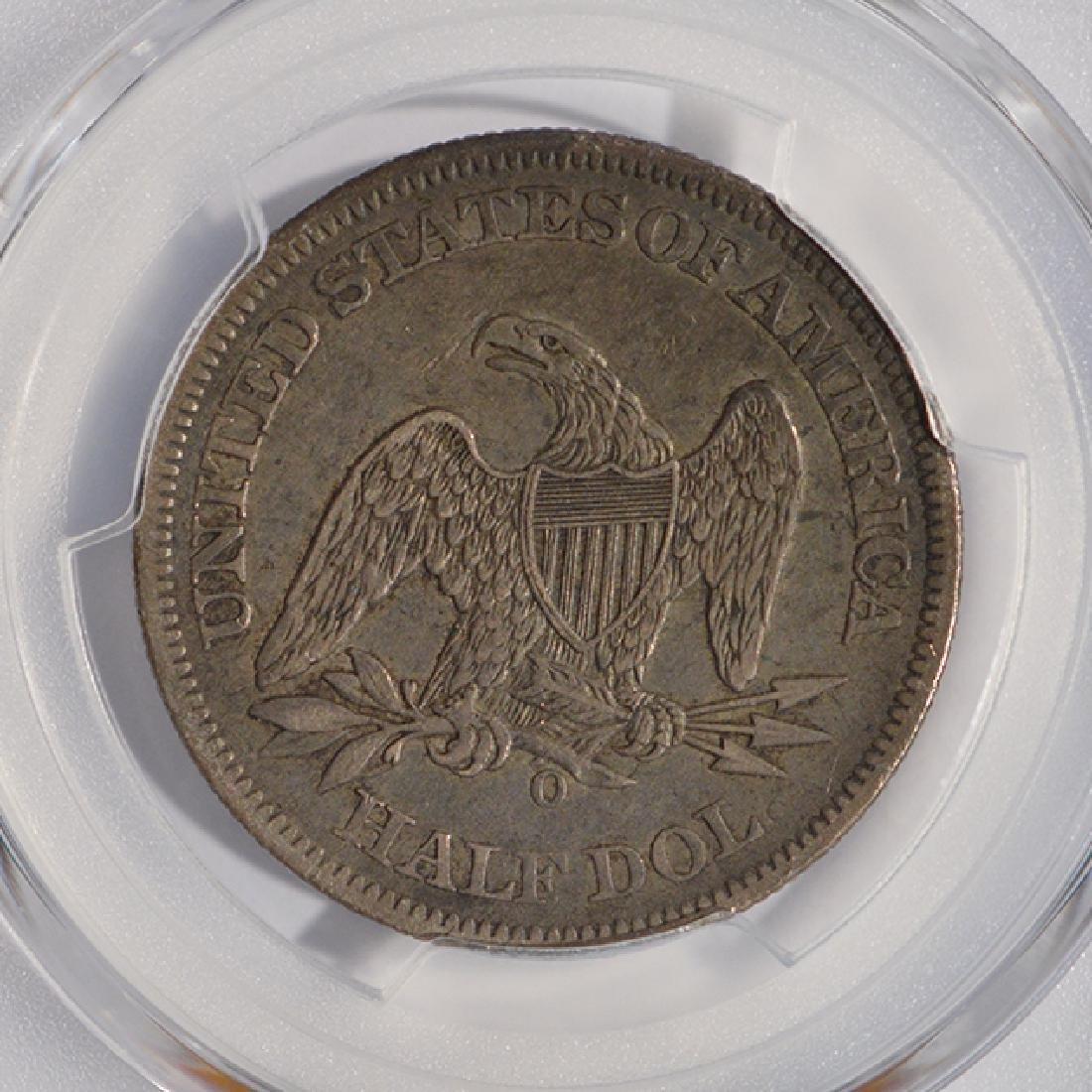 1861-O Seated Liberty Half Dollar PCGS XF40 - 4