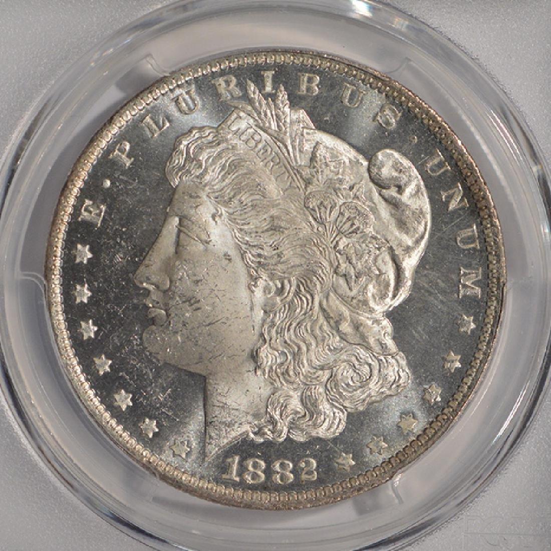 1882-O $1 Morgan Silver Dollar Coin PCGS MS63DMPL - 3