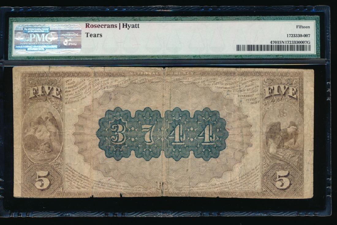 1882 $5 Hoboken Second National Bank Note PMG 15NET - 2