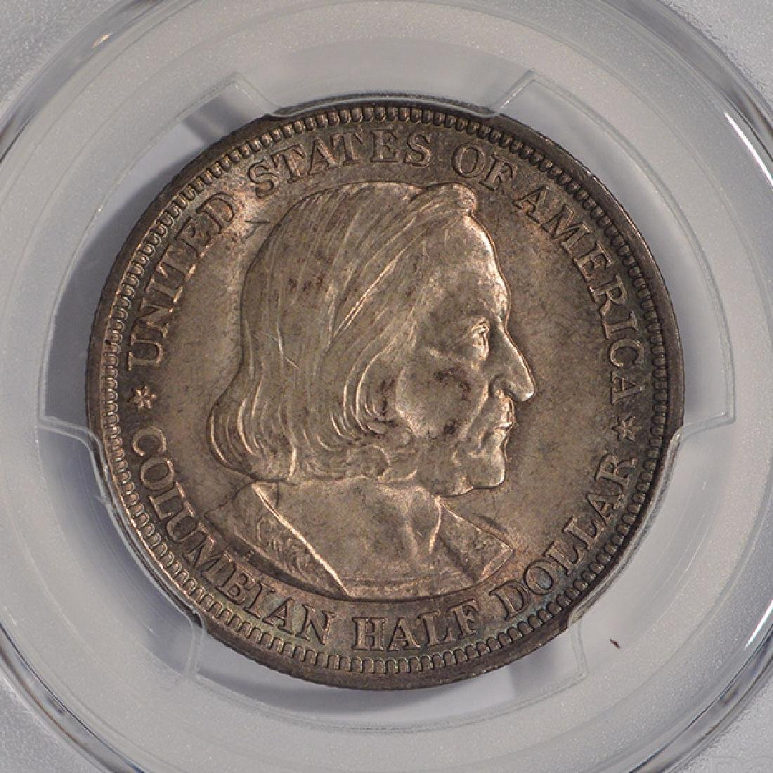 1893 Columbian Exposition Half Dollar Coin PCGS MS64 - 3
