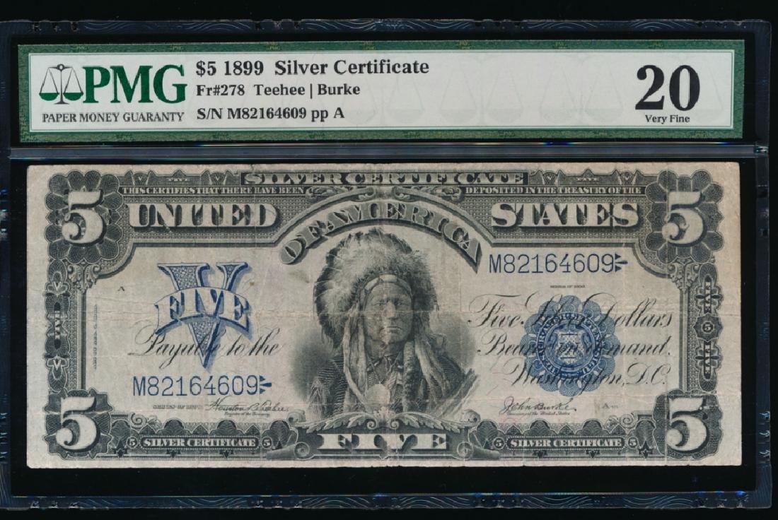 1899 $5 Chief Silver Certificate PMG 20