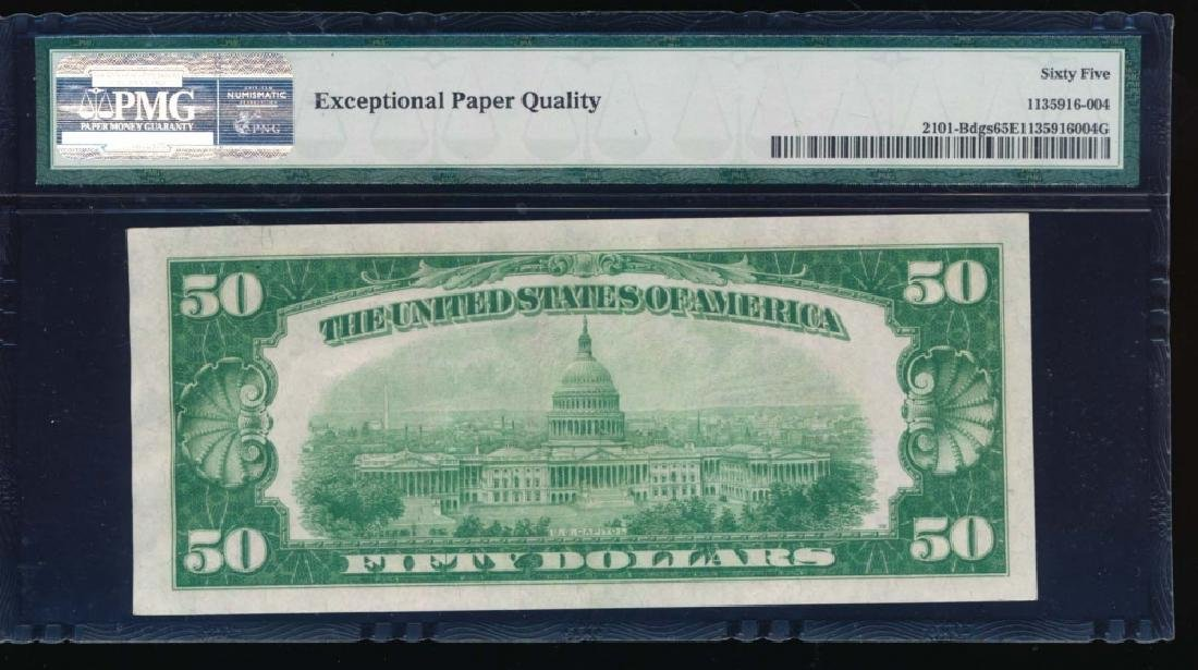 1928A $50 New York Federal Reserve Note PMG 65EPQ - 2