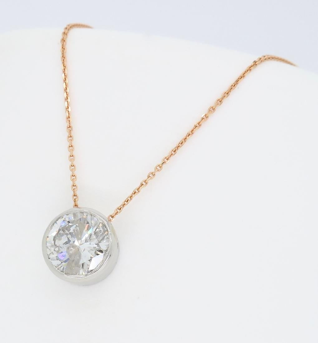 14KT Rose Gold 1.12ct Diamond Pendant with Chain - 2