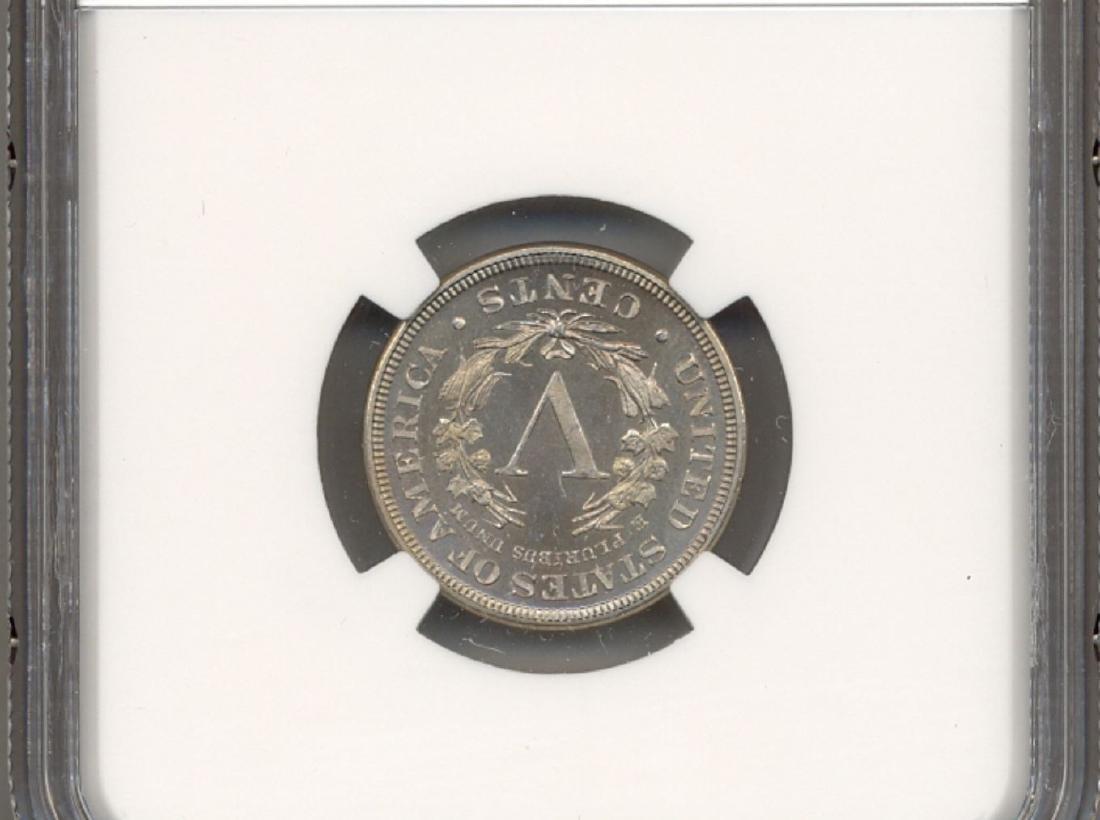 1885 V Cent Coin NGC PF66 Cameo CAC - 2