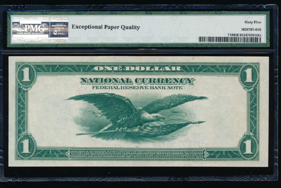 1918 $1 Cleveland Federal Reserve Note PMG 65EPQ - 2