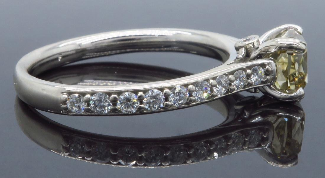 14KT White Gold 1.37ctw GIA Cert Diamond Ring - 5