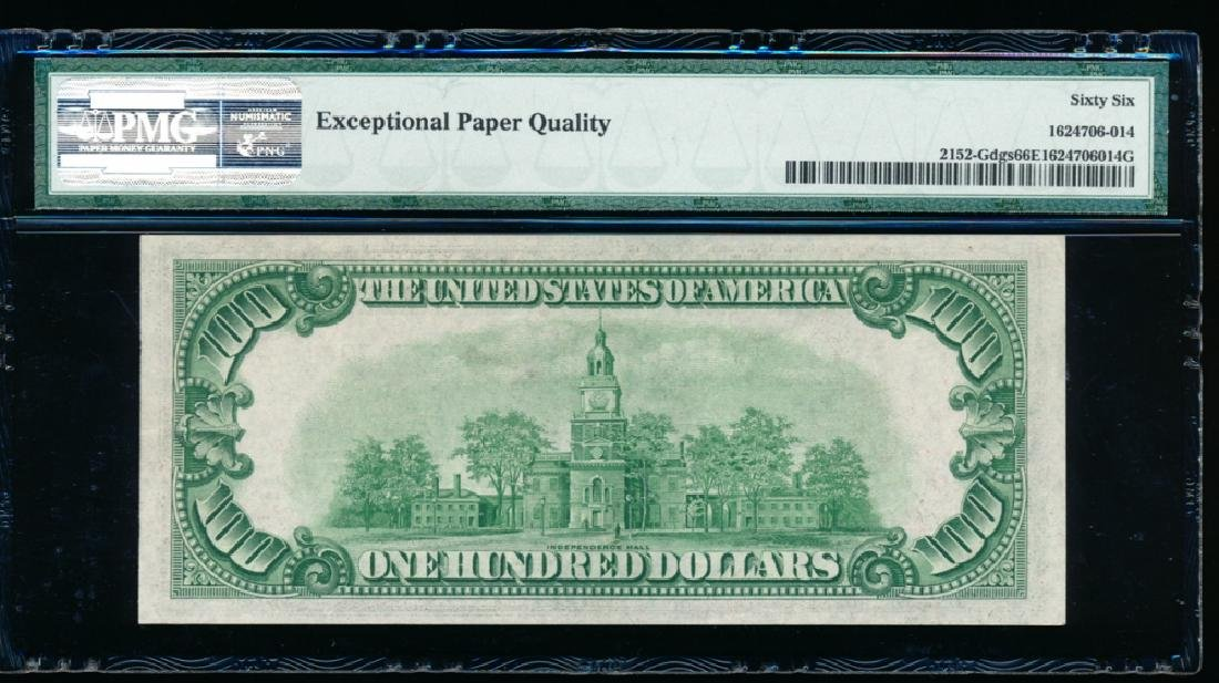 1934 $100 Chicago Federal Reserve Note PMG 66EPQ - 2