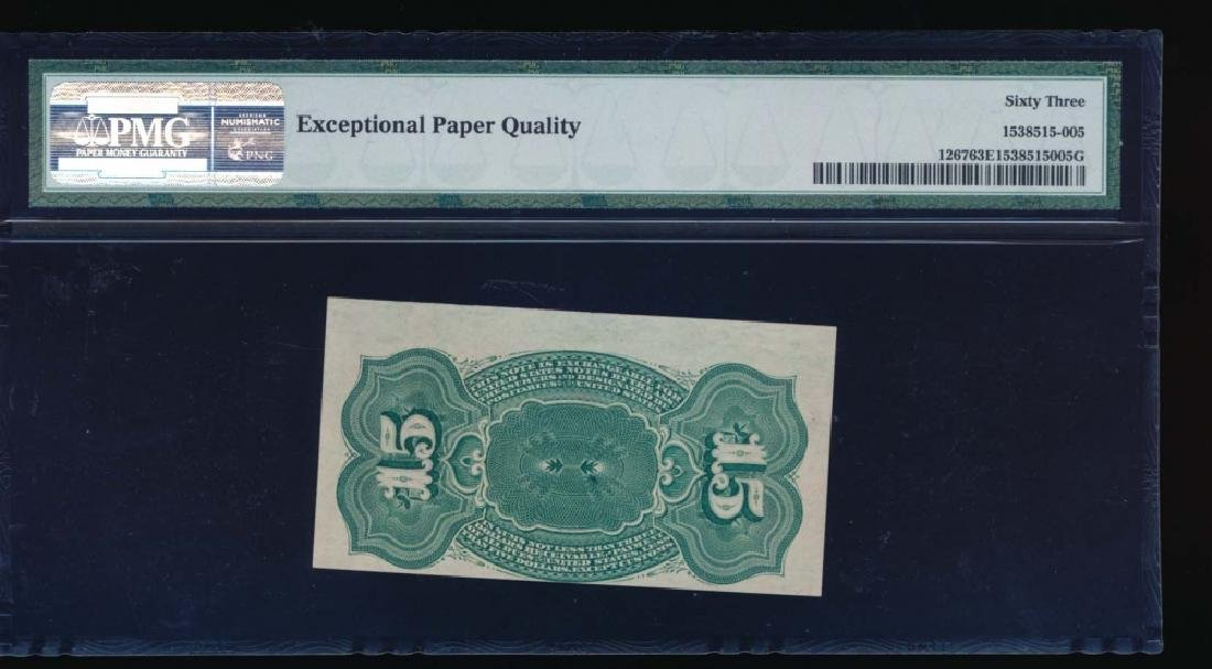 15 Cent Fourth Issue Fractional Note PMG 63EPQ - 2