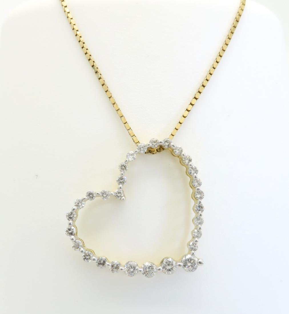 14KT Yellow Gold 0.50ctw Diamond Pendant with Chain