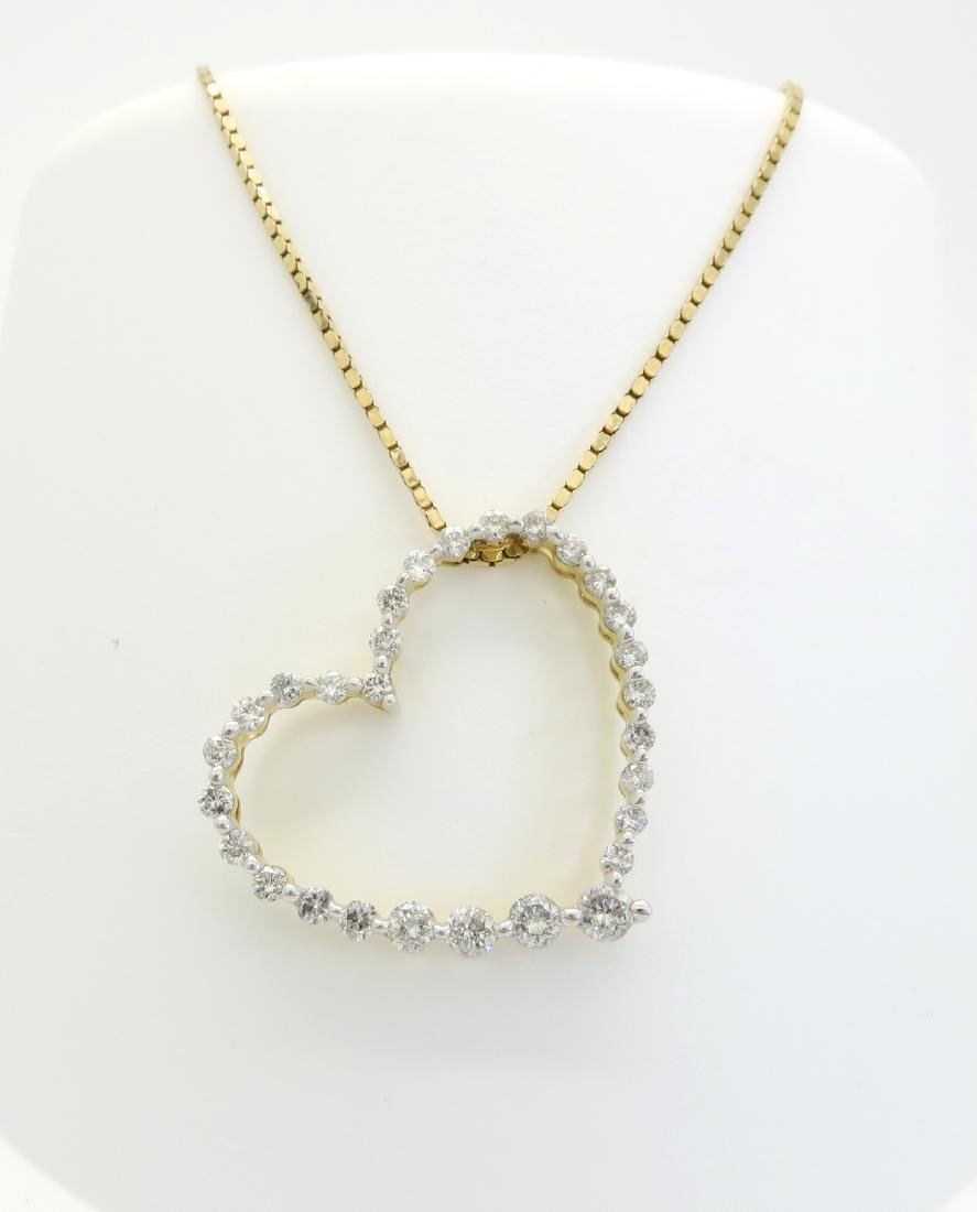 14KT Yellow Gold 0.50ctw Diamond Pendant with Chain - 2