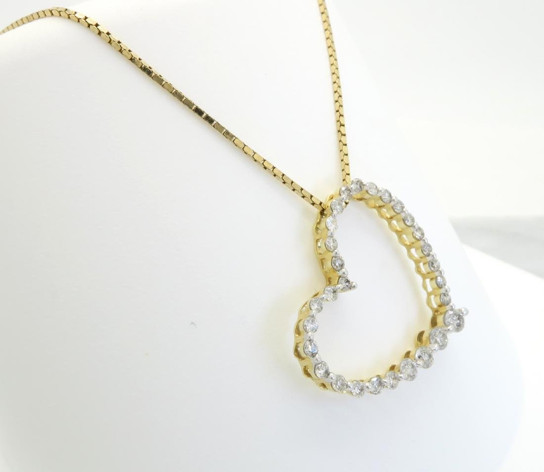 14KT Yellow Gold 0.50ctw Diamond Pendant with Chain - 3
