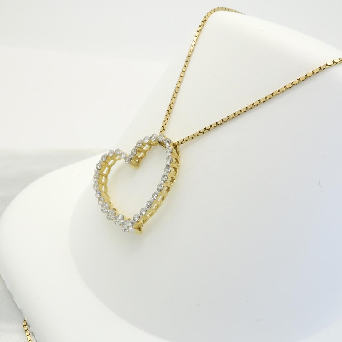14KT Yellow Gold 0.50ctw Diamond Pendant with Chain - 4