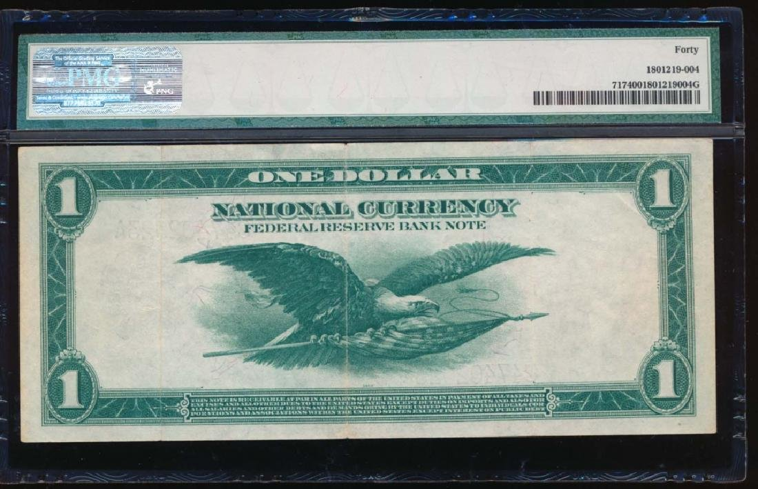 1918 $1 Philadelphia Federal Reserve Bank Note PMG 40 - 2