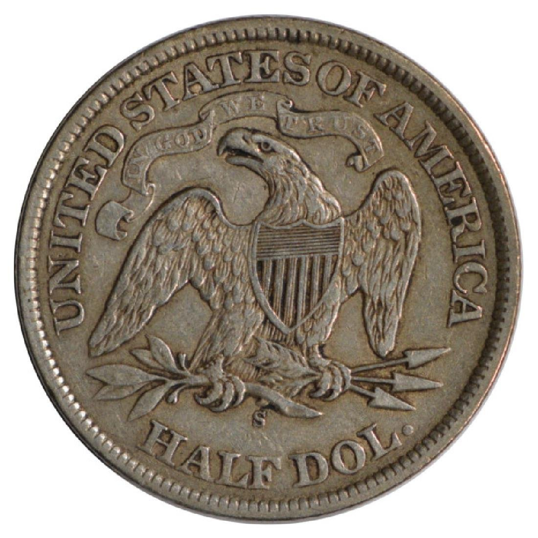 1868-S Seated Liberty Half Dollar Coin - 2