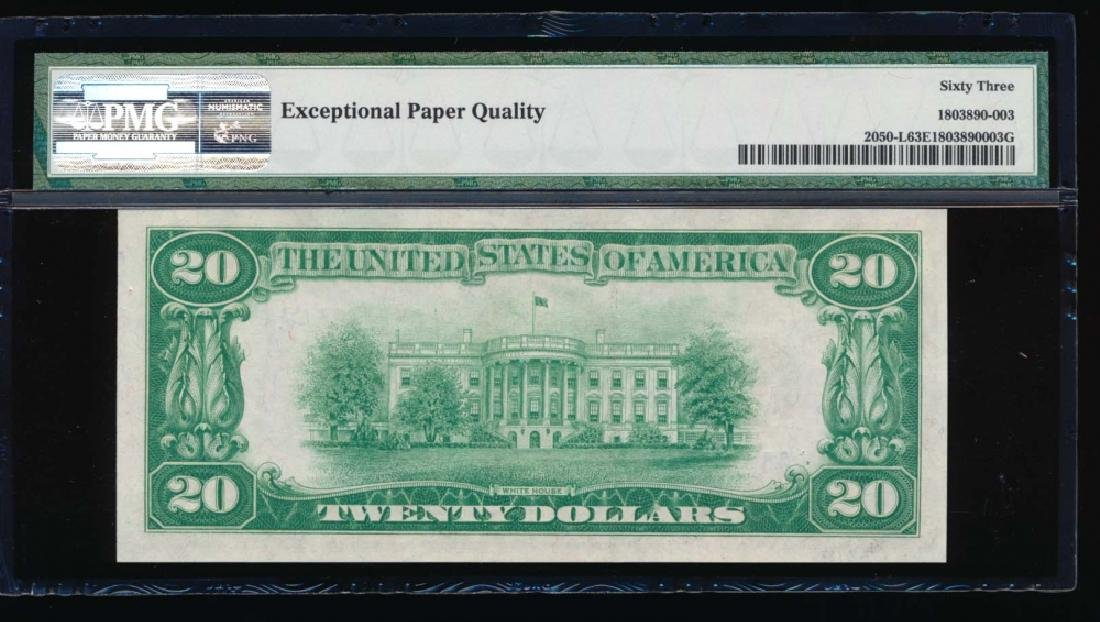 1928 $20 San Francisco Federal Reserve Note PMG 63EPQ - 2