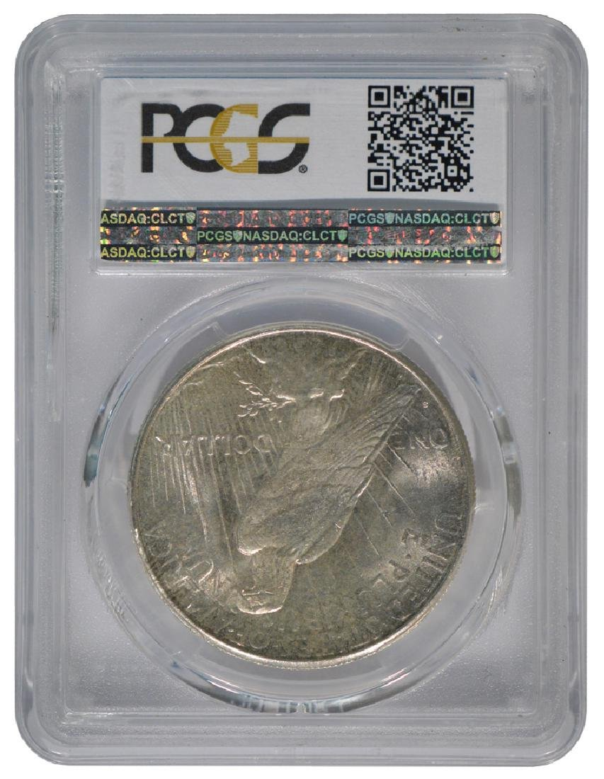 1925-S $1 Peace Silver Dollar Coin PCGS MS64 - 2
