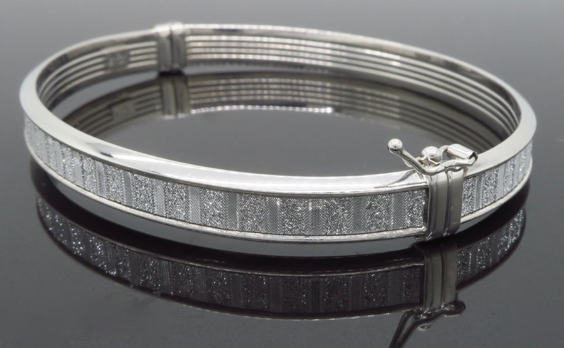Sterling Silver Glitter Bangle Bracelet - 2
