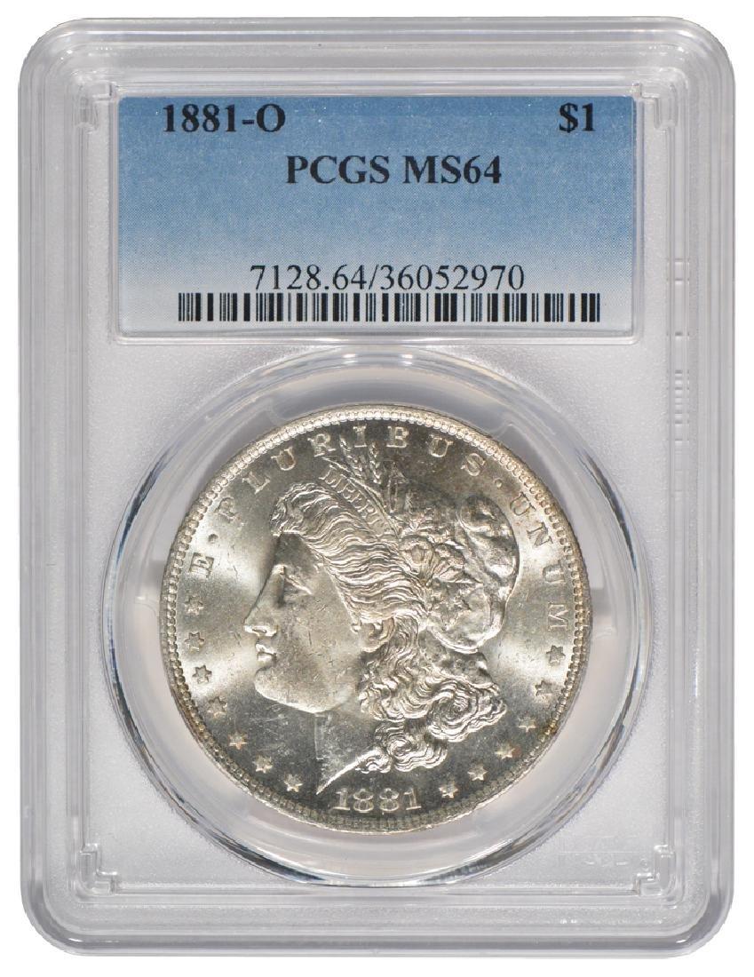 1881-O $1 Morgan Silver Dollar Coin PCGS MS64