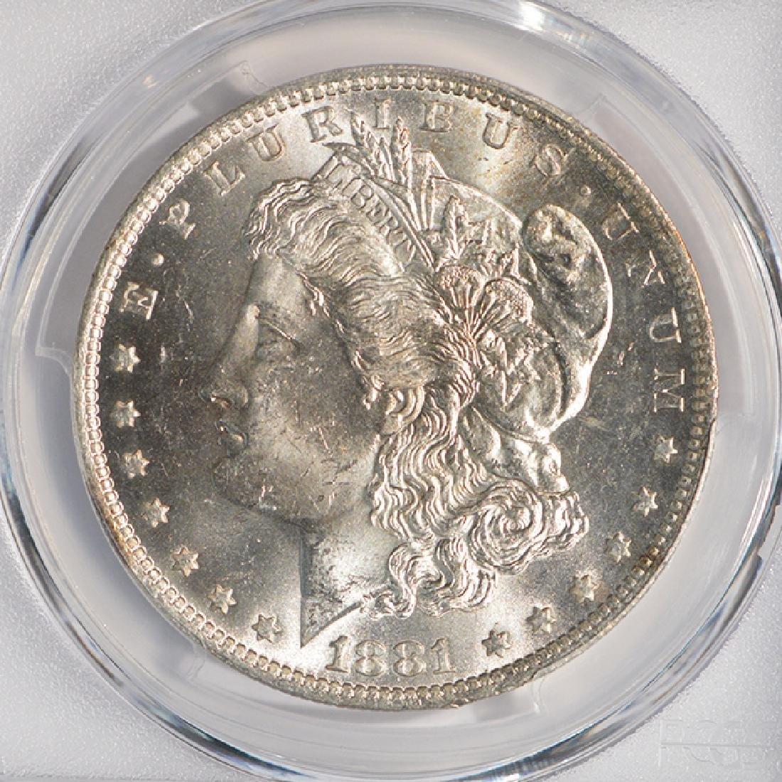 1881-O $1 Morgan Silver Dollar Coin PCGS MS64 - 3