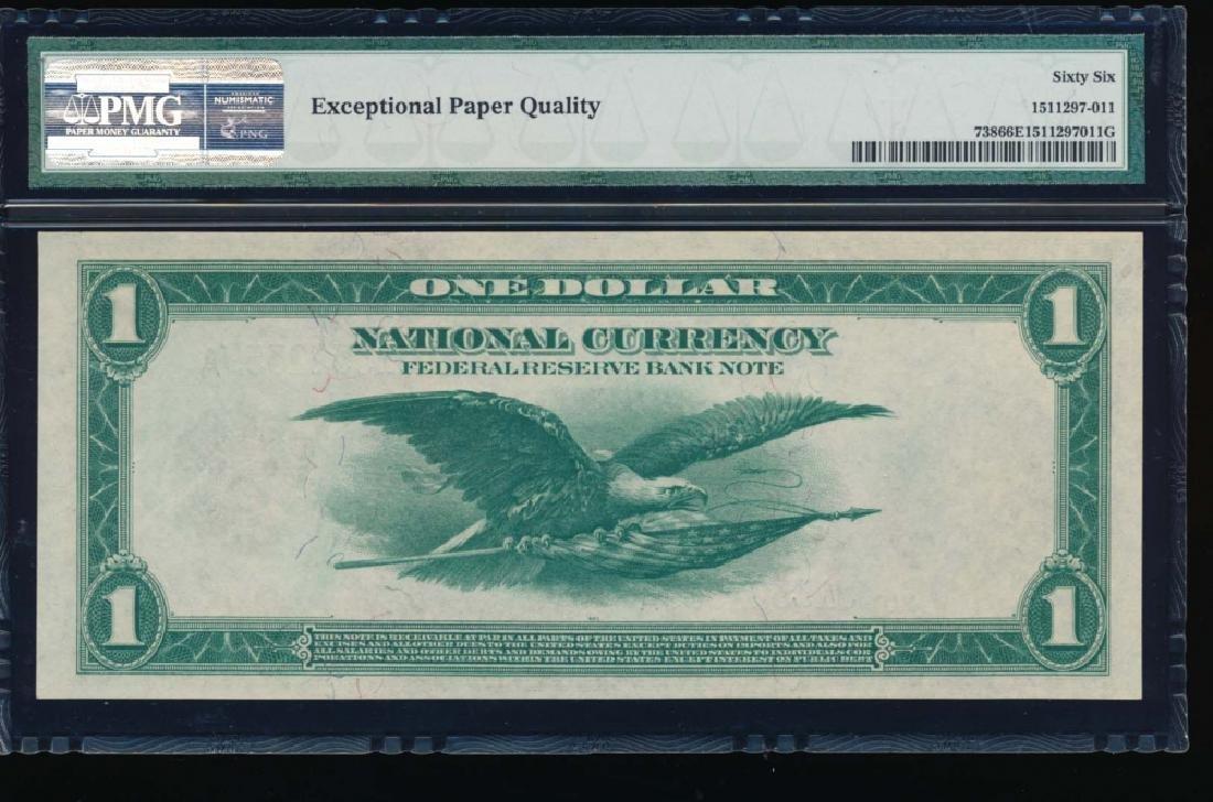 1918 $1 Kansas City Federal Reserve Bank Note PMG 66EPQ - 2