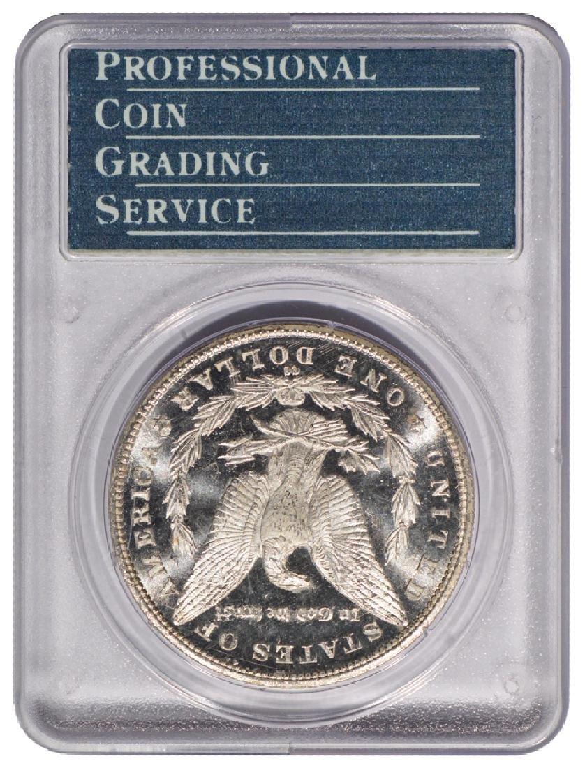 1885-CC $1 Morgan Silver Dollar Coin PCGS MS63DMPL CAC - 2