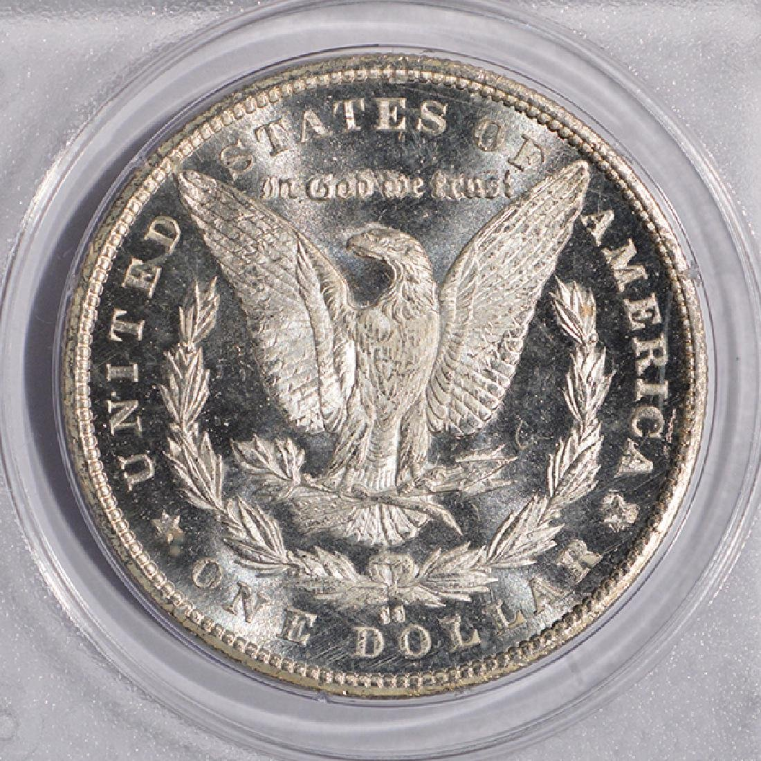 1885-CC $1 Morgan Silver Dollar Coin PCGS MS63DMPL CAC - 4