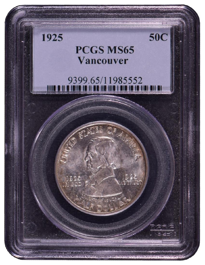 1925-S Vancouver Half Dollar Coin PCGS MS65
