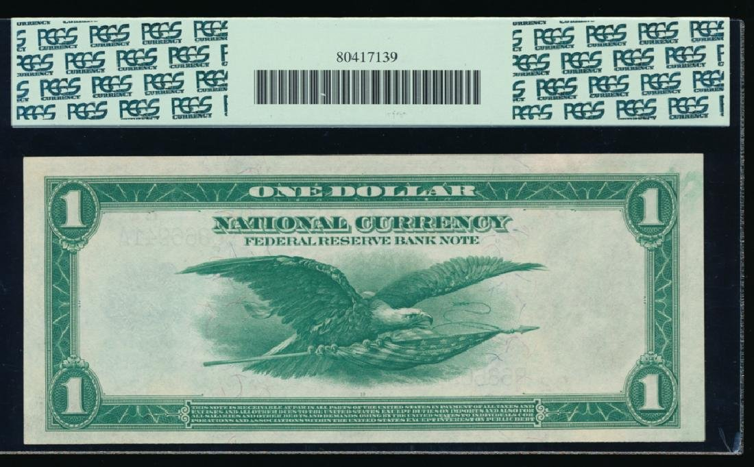 1918 $1 New York Large Federal Reserve Bank Note PCGS - 2