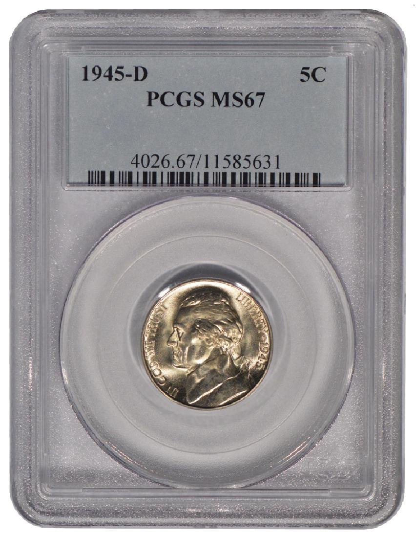 1945-D Jefferson Nickel PCGS MS67