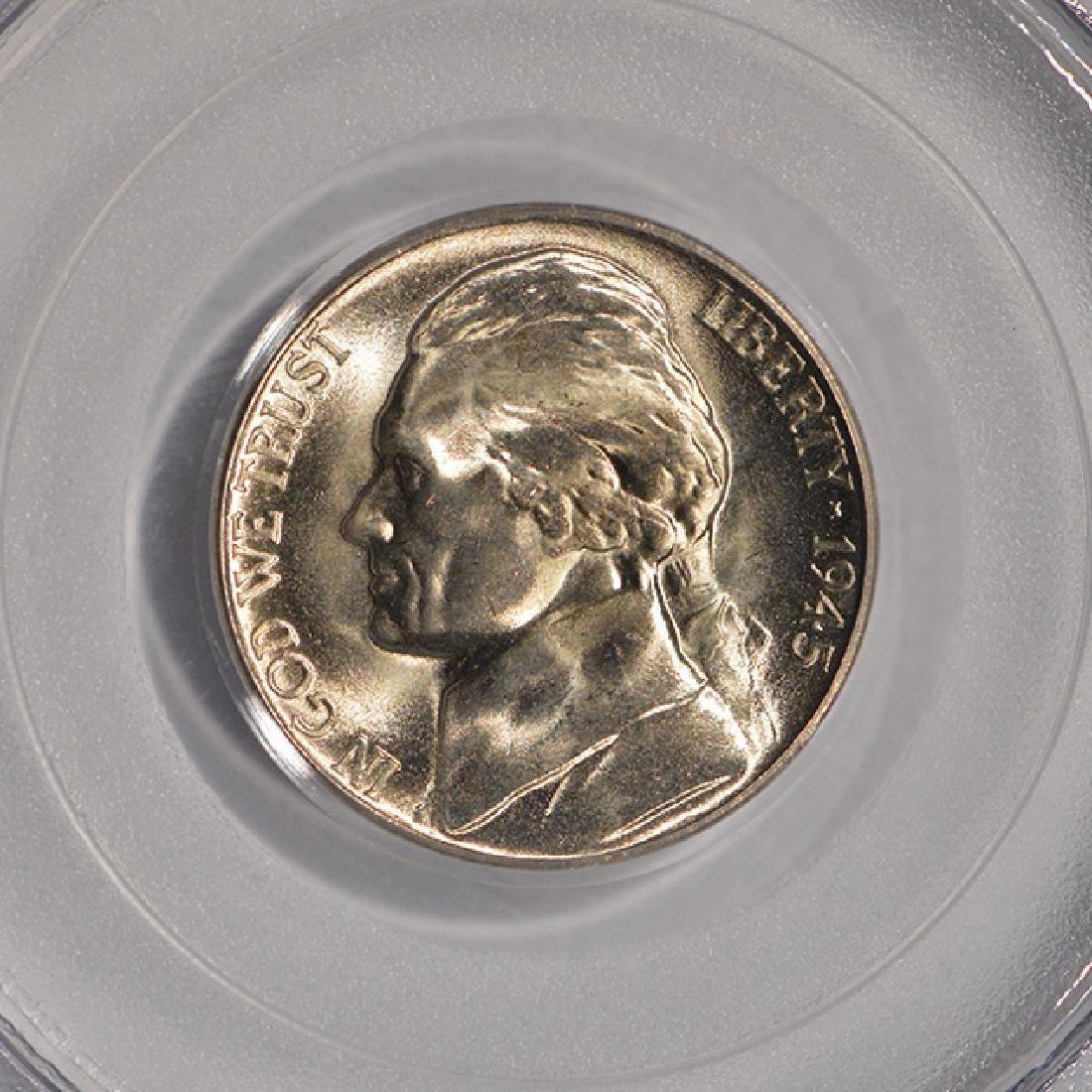 1945-D Jefferson Nickel PCGS MS67 - 3