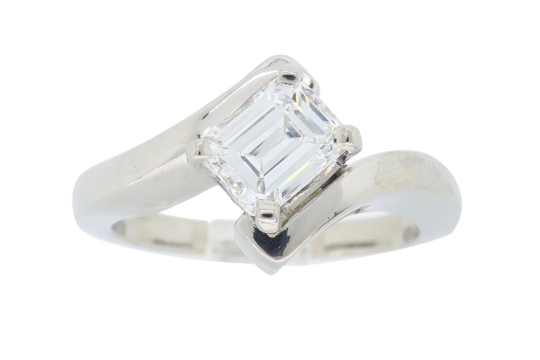 Palladium 0.67ct Diamond Ring
