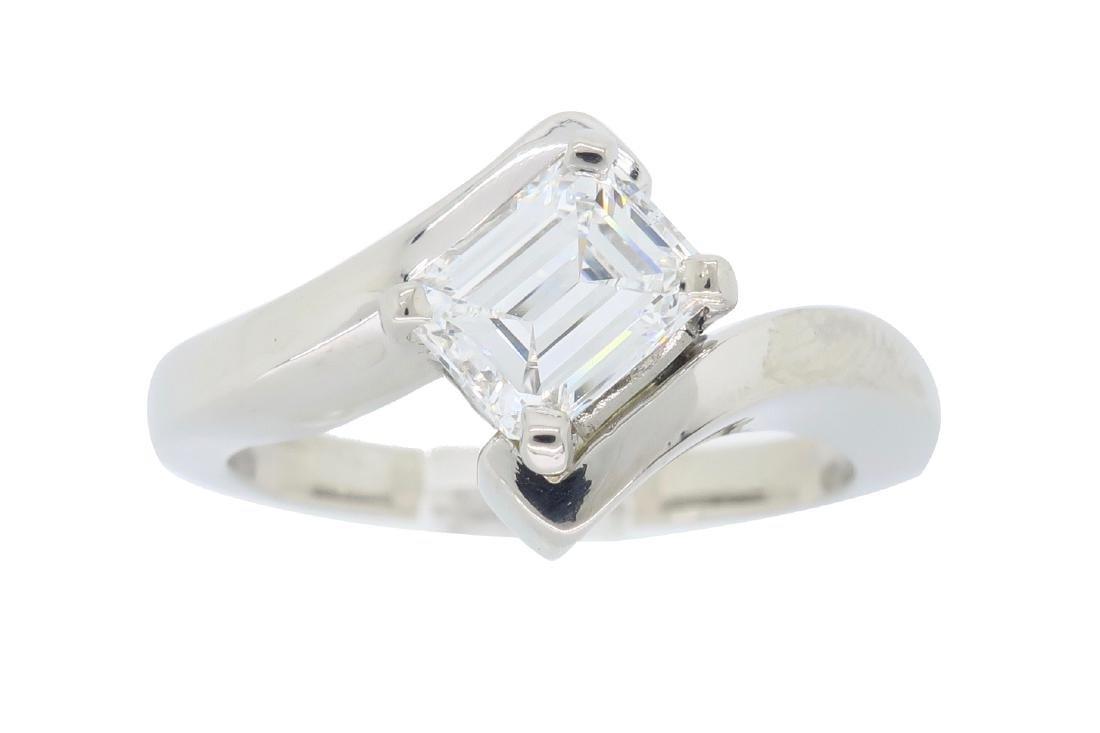 Palladium 0.67ct Diamond Ring