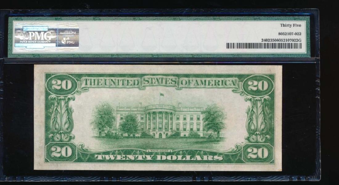 1928 $20 Gold Certificate PMG 35 - 2