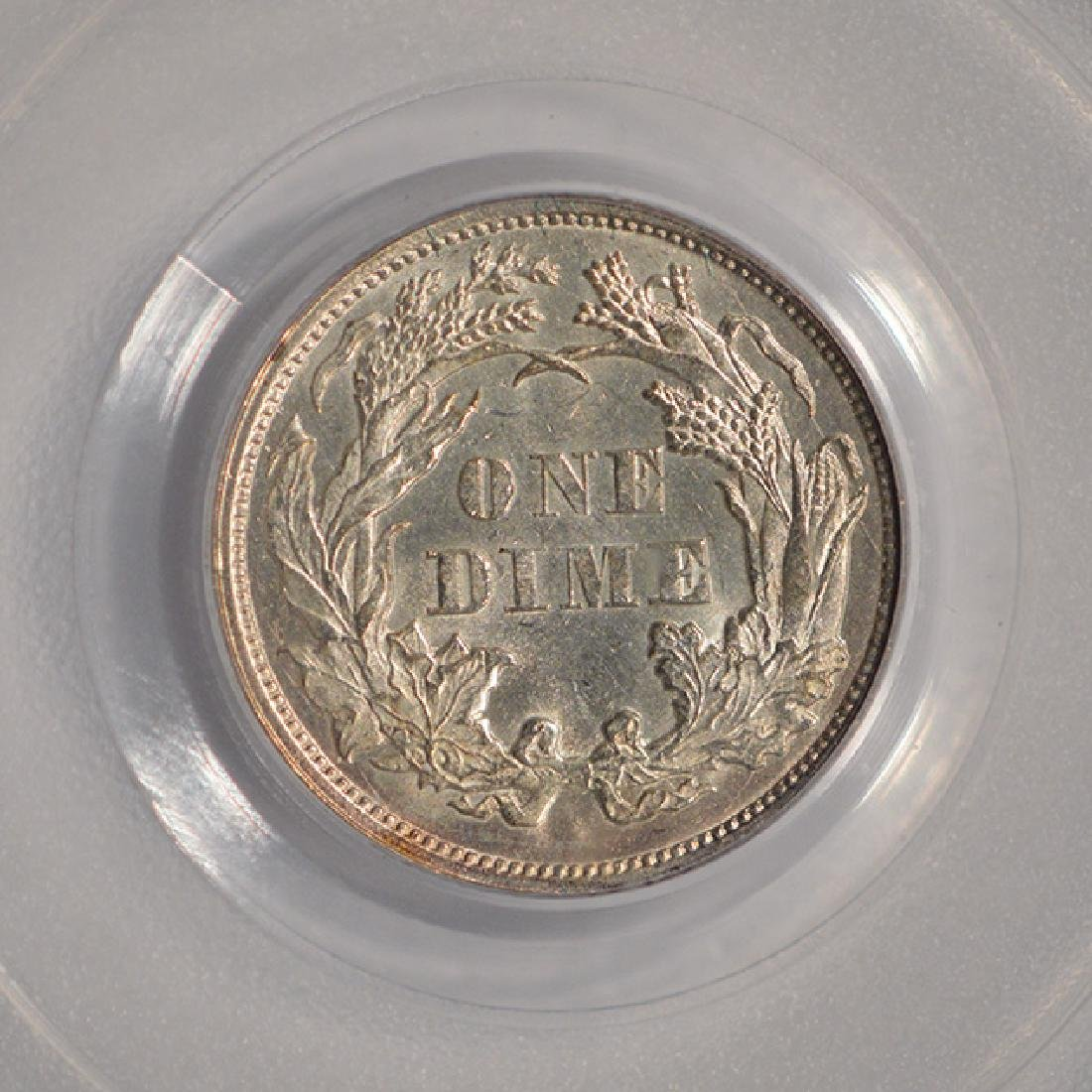 1873 Arrows Seated Liberty Dime PCGS MS62 - 4