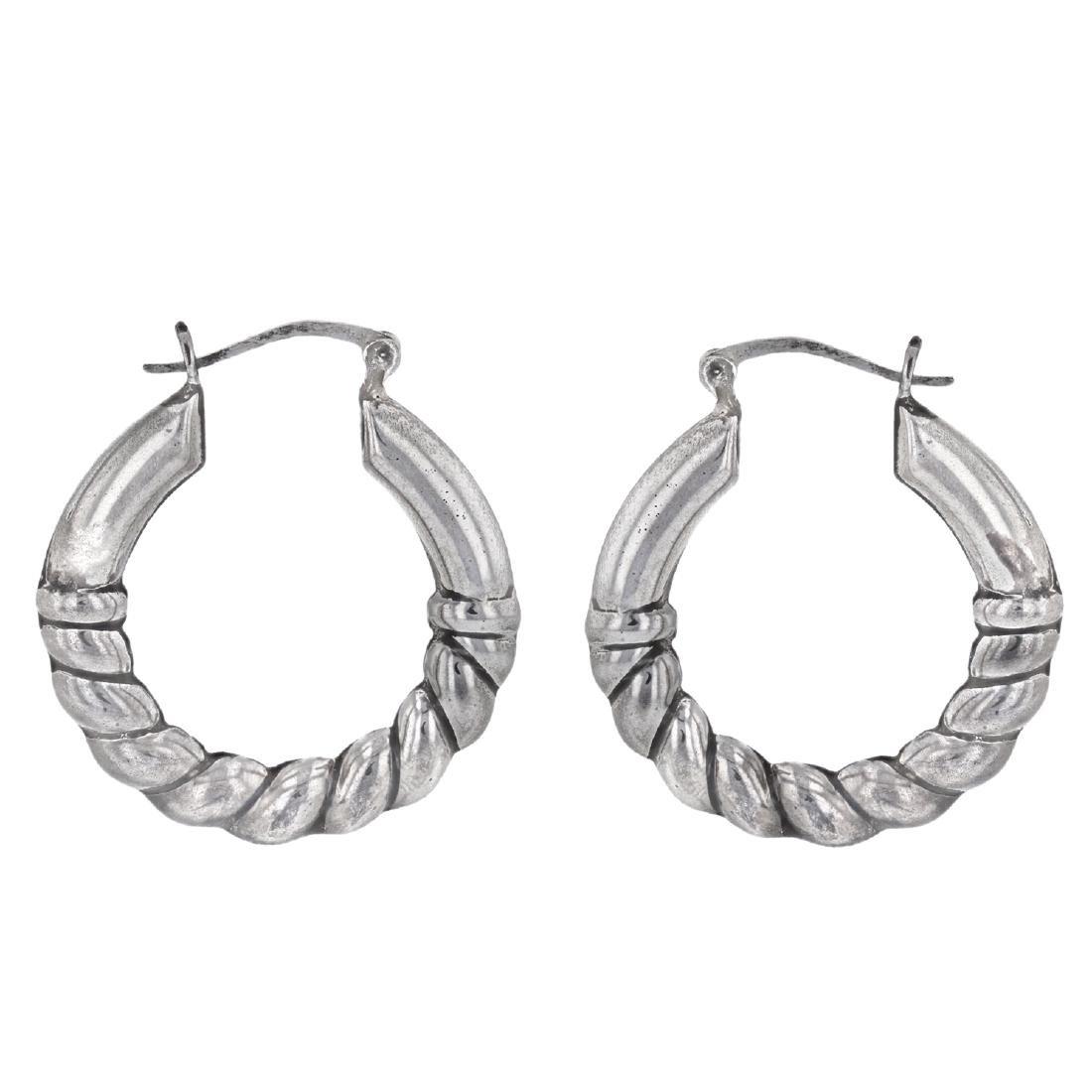 SILVER Hoop Earrings - 2