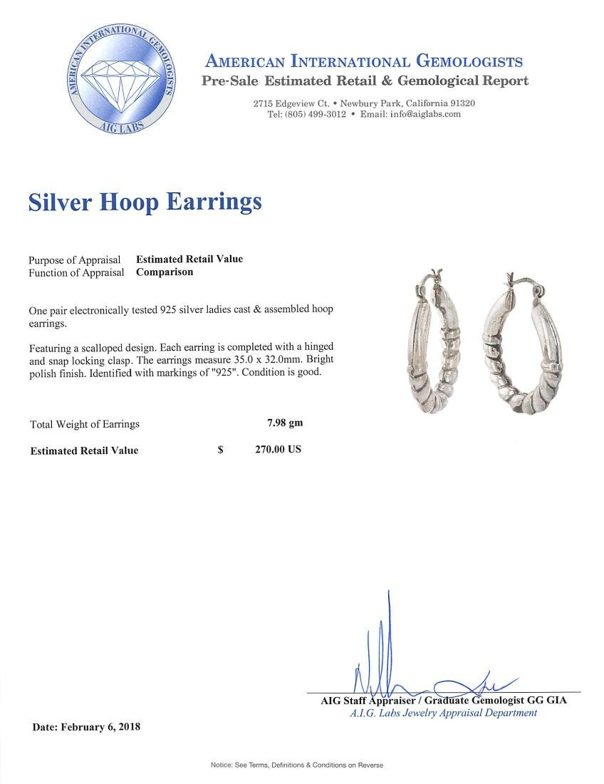 SILVER Hoop Earrings - 3