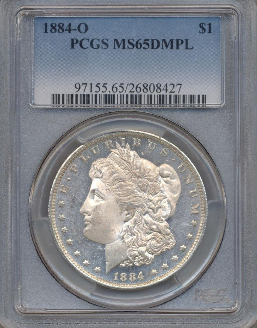 1884-O $1 Morgan Silver Dollar Coin PCGS MS65DMPL