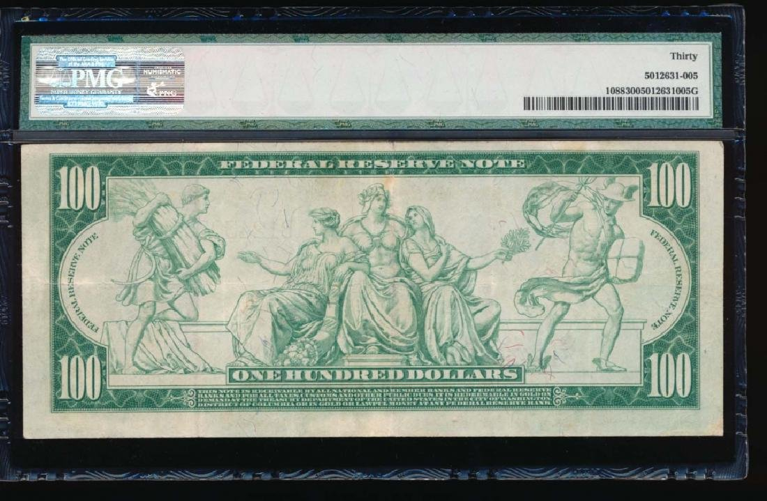 1914 $100 New York Federal Reserve Note PMG 30 - 2