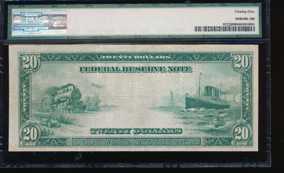 1914 $20 Cleveland Federal Reserve Note PMG 25 - 2