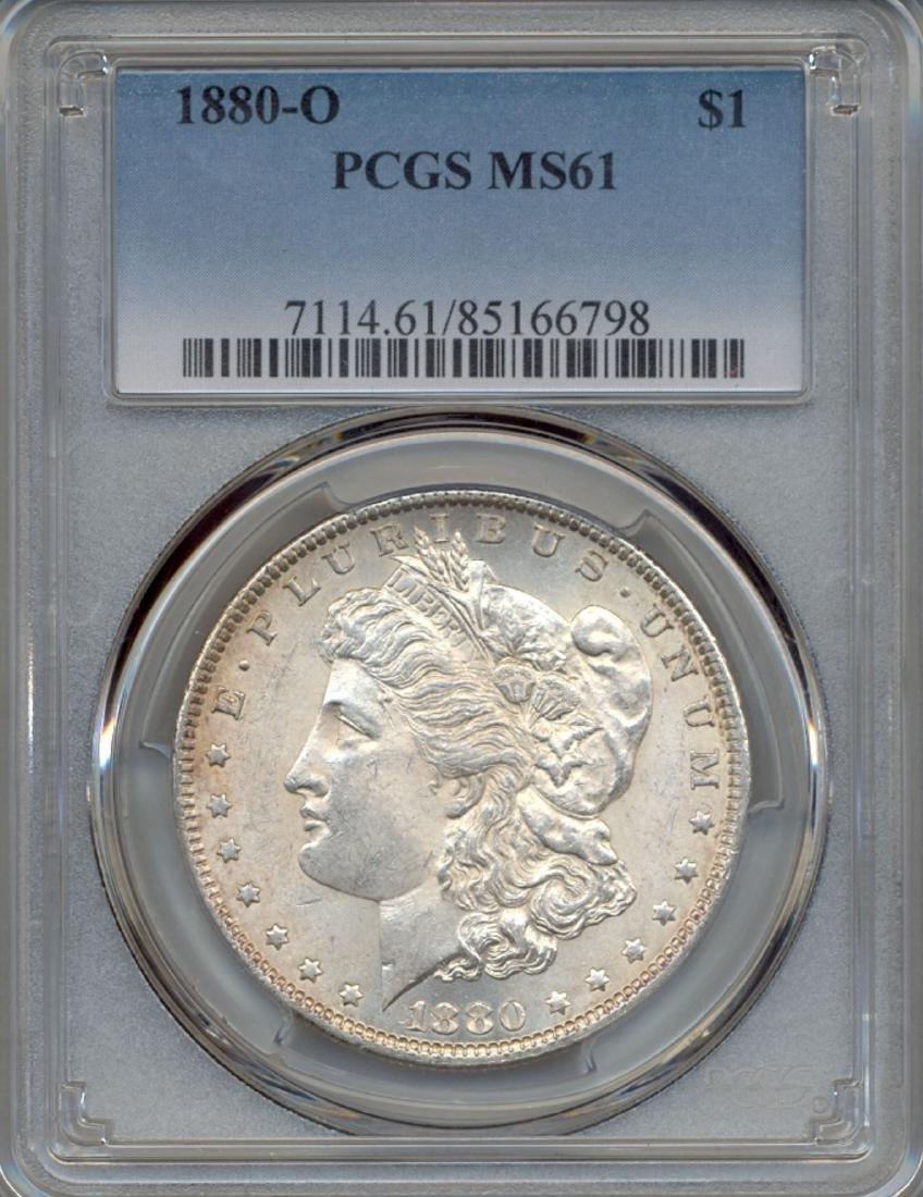 1880-O $1 Morgan Silver Dollar Coin PCGS MS61