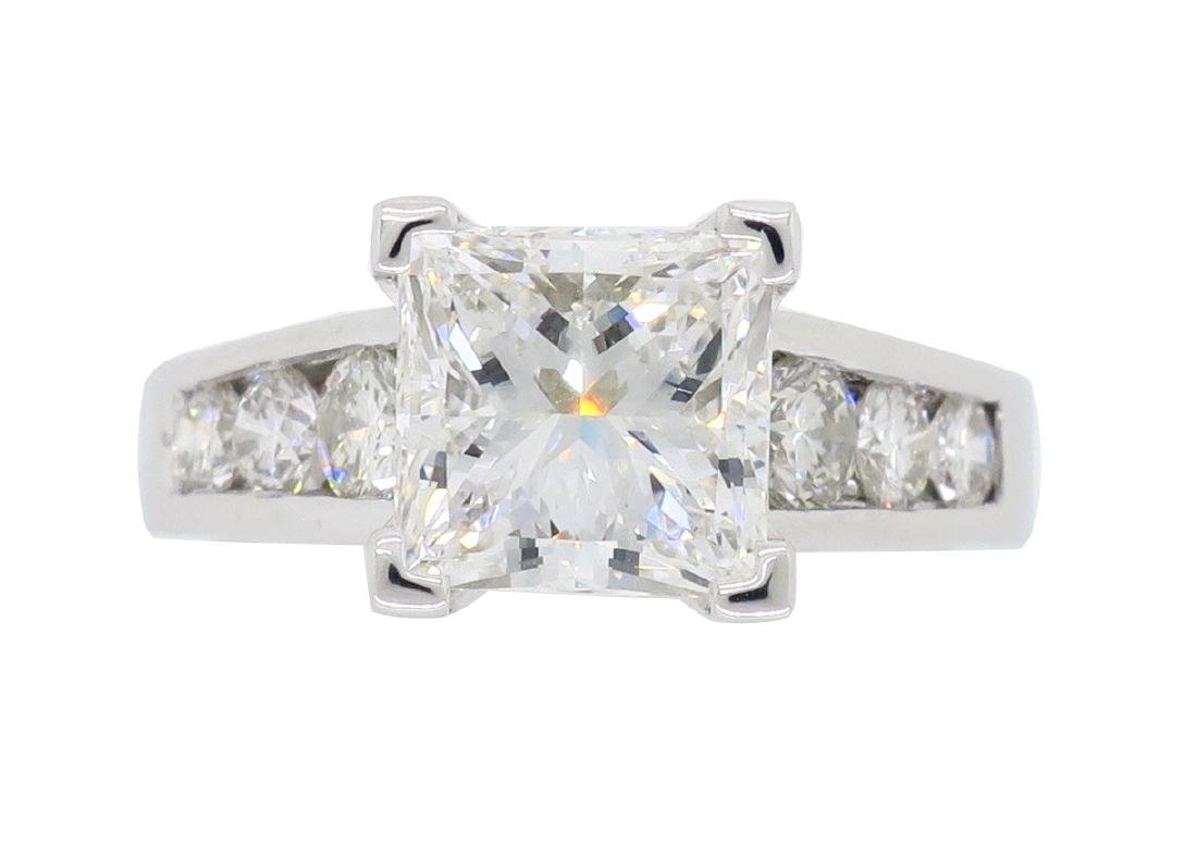 Platinum 2.01ct GIA Cert Diamond Ring