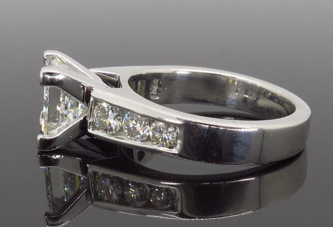 Platinum 2.01ct GIA Cert Diamond Ring - 4