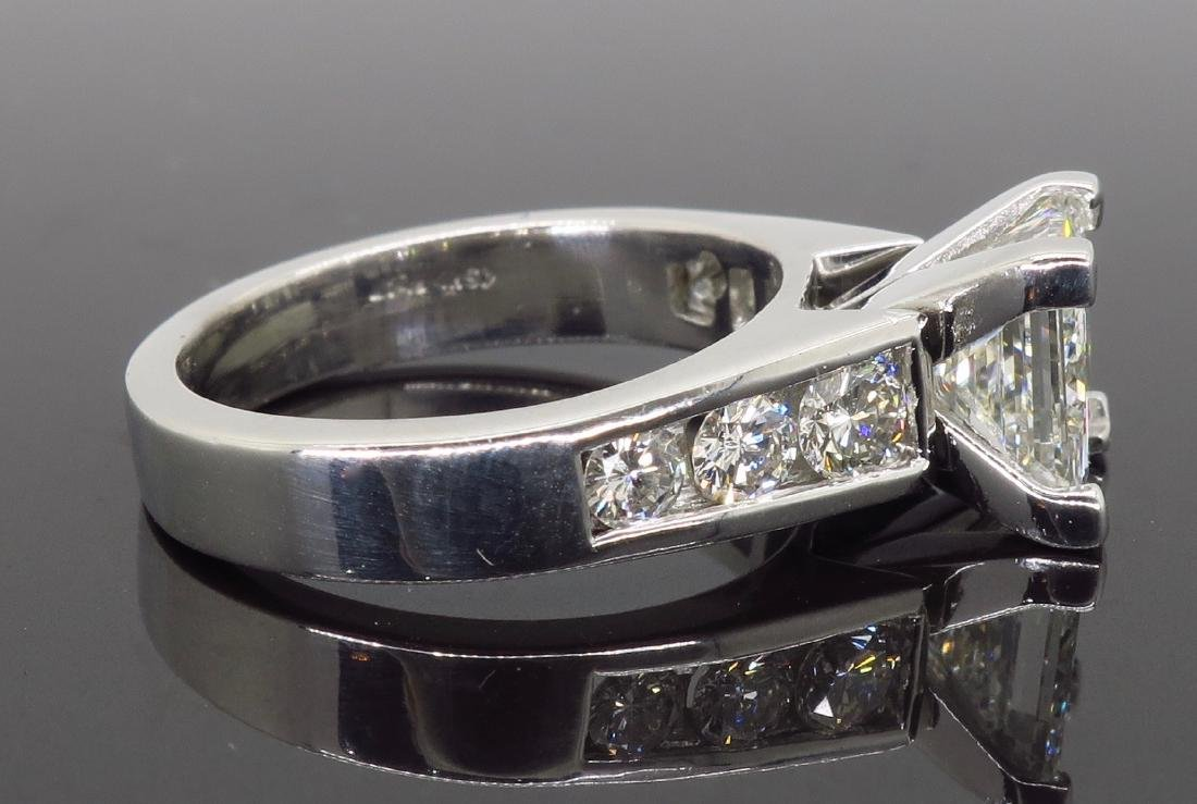 Platinum 2.01ct GIA Cert Diamond Ring - 6