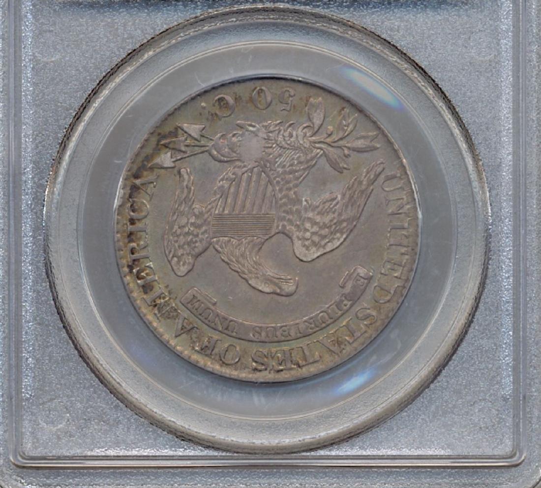 1826 Liberty Bust Half Dollar Coin PCGS AU50 - 2