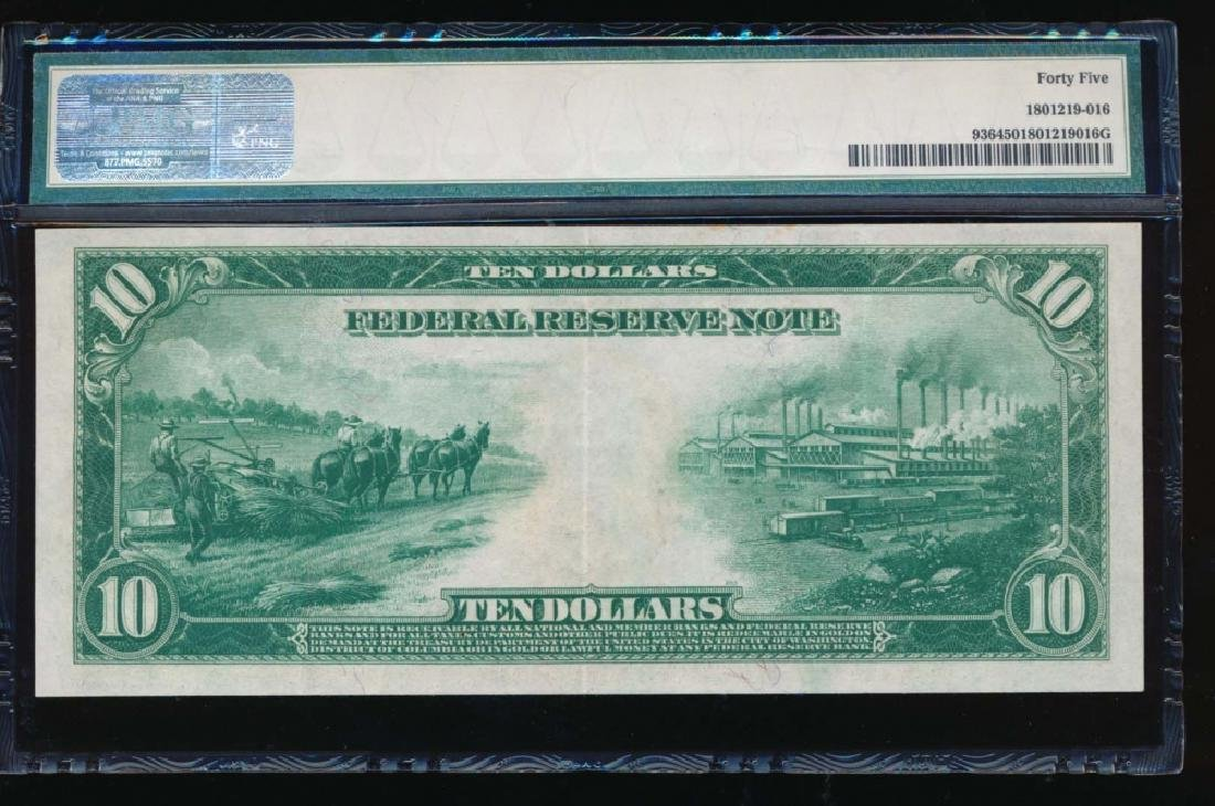1914 $10 Minneapolis Federal Reserve Note PMG 45 - 2