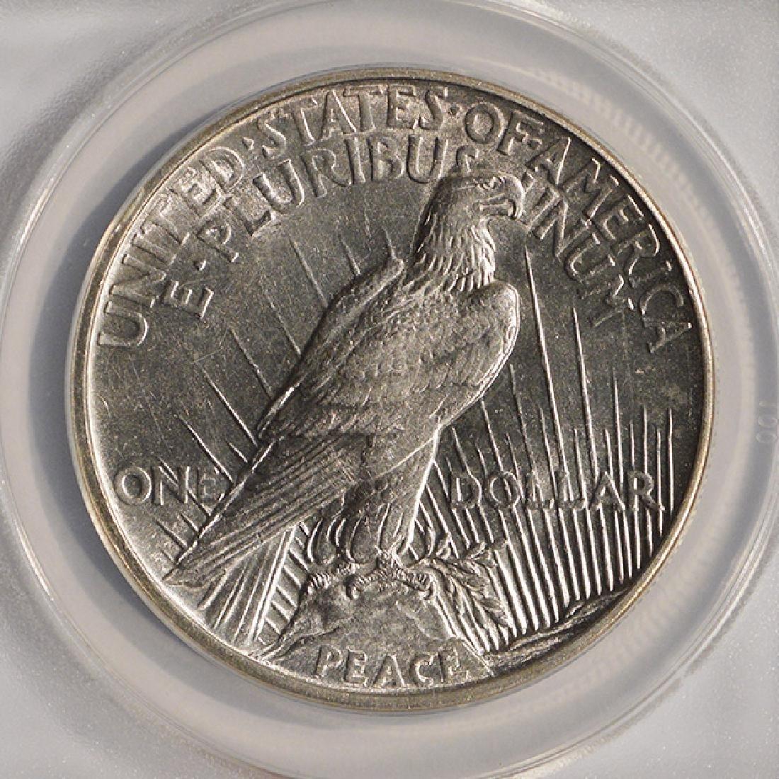 1921 $1 Peace Silver Dollar Coin ANACS AU58 - 4