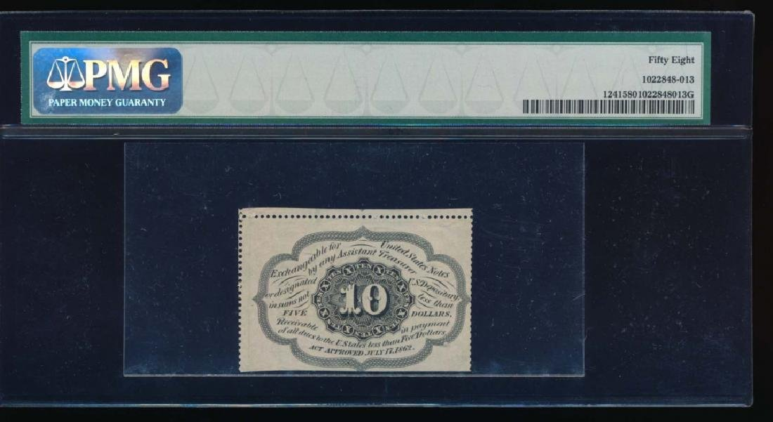 10 Cent Fractional Currency Note PMG 58 - 2