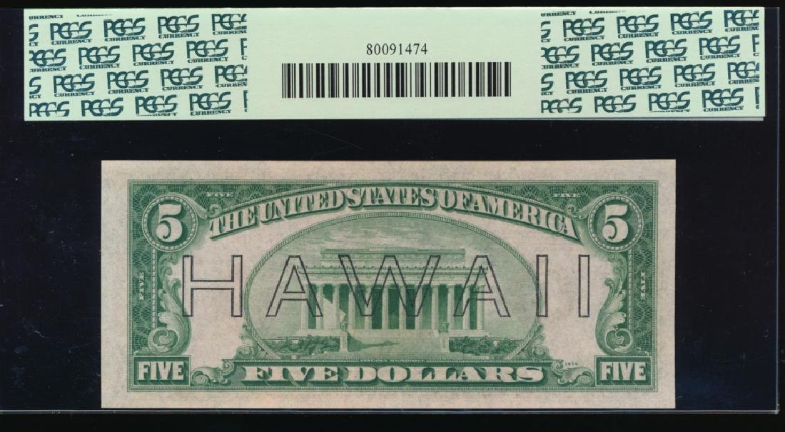 1934A $5 Hawaii Federal Reserve Note PCGS 66PPQ - 2
