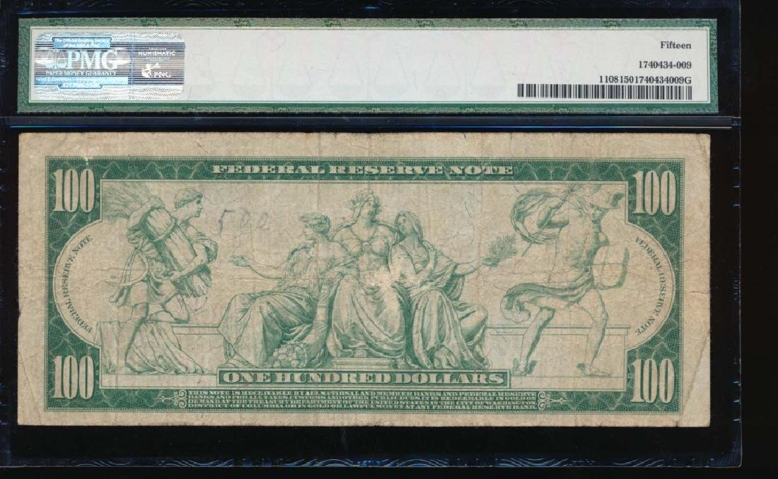 1914 $100 Chicago Federal Reserve Note PMG 15 - 2