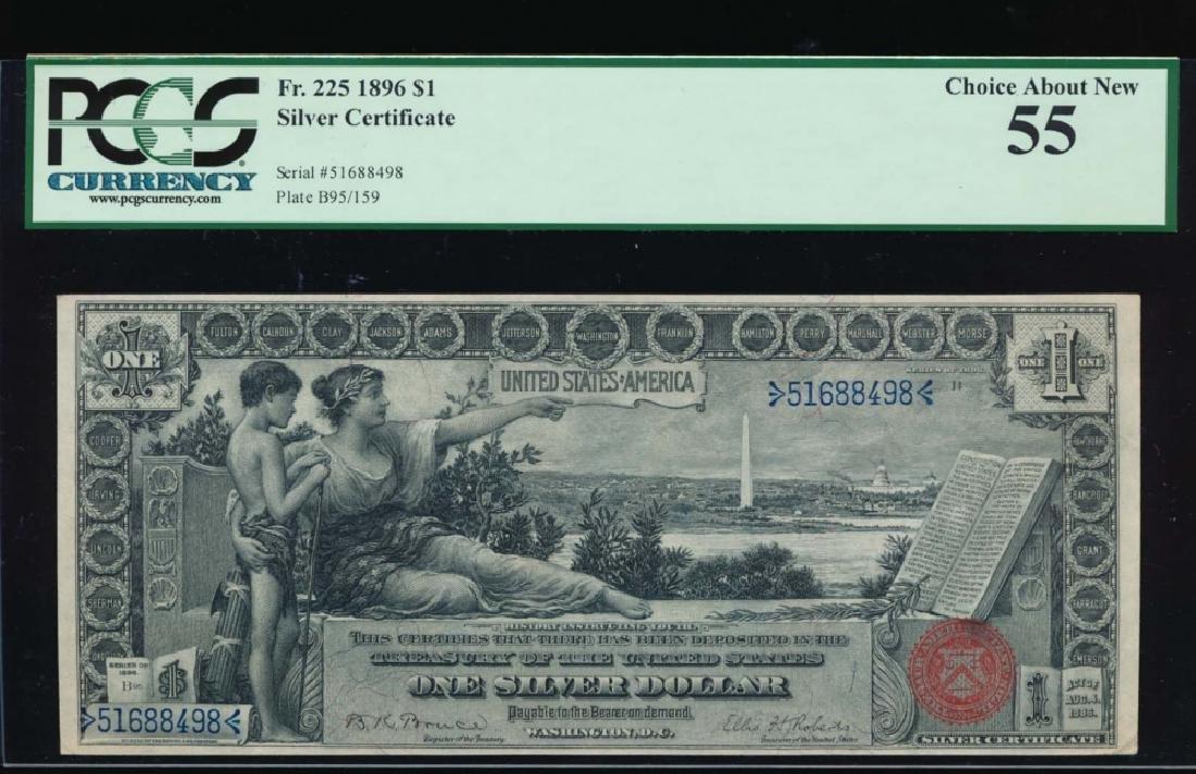 1896 $1 Silver Certificate PCGS 55